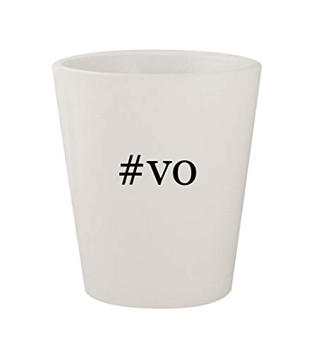 #vo - Ceramic White Hashtag 1.5oz Shot Glass