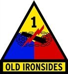 KustomSkinz Stickers 1st Armored Division Old Ironsides Seal Decal 3.75