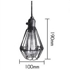 STGLIGHTING 1-Light H-Type Track Light Pendants 4.9 Feet Cord Iron Birdcage Lampshade Restaurant Chandelier Decorative Chandelier Industrial Factory Pendant Lamp Bulb Not Included by STGLIGHTING (Image #1)