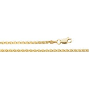 """CleverEve Luxury Series 14K Yellow Gold 11.40 grams 18.00"""" 2.4mm Polished Wheat Chain"""