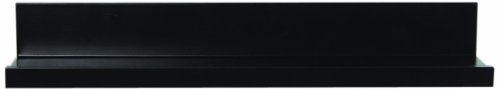 InPlace Shelving 0191358 Floating Shelf with Picture Ledge, Black, 23.6-Inch Wide by 4.5-inch Deep by 3.5-Inch High