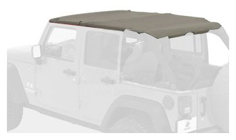 Bestop 52581-36 Header-style Safari Bikini Khaki Diamond Top for 07-09 Wrangler JK -