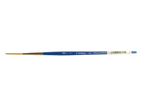 Winsor & Newton Cotman Water Colour Series 333 Short Handle Synthetic Brush - Rigger #3