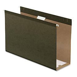 4in Capacity Green - Pendaflex Extra Capacity Reinforced Hanging File Folders, 4