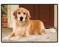 Fiddler's Elbow Golden Retriever Porch Doormat