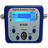 (AGPtek Good For Campers Digital Satellite Signal Meter Finder Meter For Dish Network Directv FTA LCD Graphic Display Backlight Compass Buzzer Control)