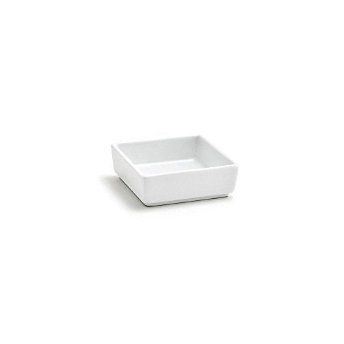 (Front of the House DSD028WHP24 Mod Square Ramekin, 2.5