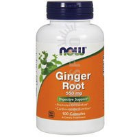 Ginger 100 Capsules (NOW Ginger Root 550mg, 100 Capsules)