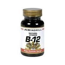 Windmill Natural Vitamin B-12 500 mcg Tablets - 60 ea by WINDMILL 500 Mcg 60 Tabs