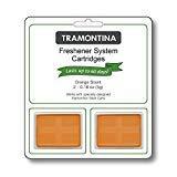 Freshener System - Tramontina Step Can Freshener System Odor Cartridges 2pk, 0.18 oz each (FRESH SKY, LEMON or ORANGE SCENTS) (Orange)