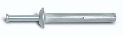1/4 x 1-1/4, Powers Zamac Nailin Drive Pin Anchors with Carbon Steel Nail, Mushroom Head, 100/Bx by Powers Fasteners