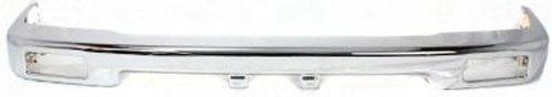 CPP Chrome Steel Front Bumper for 1989-1995 Toyota Pickup - (1989 Bumper)
