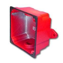 WHEELOCK WBB-R WBB RED FIRE ALARM WEATHER RESISTANT OUTDOOR BACK BOX BACKBOX FIRE SIGNALING; RED by Wheelock