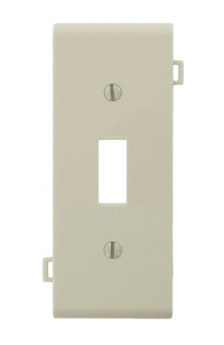Sectional Nylon Wall Plate (Leviton PSC1-T Toggle Switch Opening Thermoplastic Nylon Sectional Wallplate for Multi-Gang Installations, Light Almond)