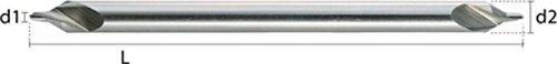 HEPYC 11330300812/diametral und von//–/Zentrierbohrer f/ür Bohren, /ø3.00/X 8.00/mm, L 120/mm, L 3.9/mm HSS DIN333/A