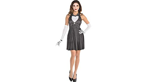 (Party City The Nightmare Before Christmas Jack Skellington Halloween Costume Accessory Kit for Women, One)