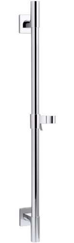 KOHLER K-98342-CP Awaken Deluxe 24-Inch Slide Bar, Polished Chrome