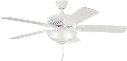 Kichler  339211SNW 52`` Ceiling Fan (Alabaster Glass Is What)