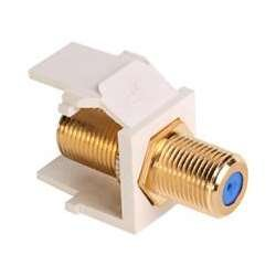 Leviton 40831-BT QuickPort F-Type Adapter, Gold-Plated, Light ()