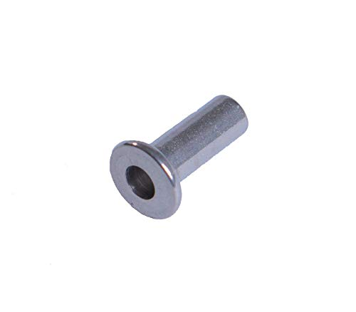 VistaView CableTec - Cable Railing Stainless Steel Protector Sleeves for Wood and Composite Posts for 1/8