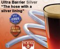 100' of Ultra Barrier Silver Beer/Liquid Hose 3/16 ID x 7/16 OD, 1/8'' Wall sold by Kegconnection