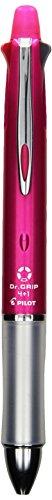 Pilot Dr. Grip Multi Function Pen, 0.7mm Acro Ink Ballpoint Pen, 0.5mm Mechanical Pencil, Pink (BKHDF1SF-P)