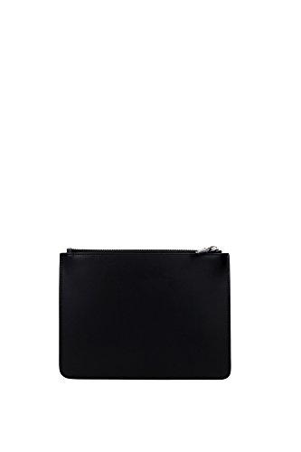 Pochette Givenchy Donna Pelle Nero e Bianco BK06071531004 Nero 16x22 cm