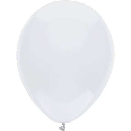 12'' Standard White Latex Balloons, Party Balloons 100 Count