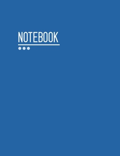 Download Notebook: Blank Notebook Blue Large, 8.5x11, Unlined Journal Design for Writing and Big Enough for Sketching and Planning Your Creative Ideas (Professional Blank Notebook Large Unlined) (Volume 2) pdf