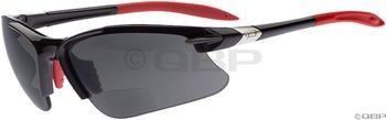 Dual Eyewear SL2 Pro Sunglasses: +2.5 Power Magnification; Black Frame/Gray - Sunglasses Dual