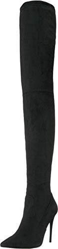 Steve Madden Women's DEMANDING Fashion Boot, Black, 8 M US