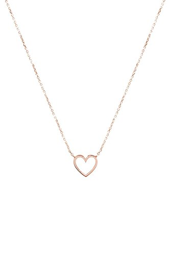 - Gold Heart Necklace, 9K, 14K, 18K Gold Necklace, Rose Gold Heart Pendant /code: 0.002