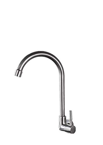 GONGFF Bathroom Sink Taps Kitchen Faucet Single Cold Sink Bathroom Fashion Dish. Enter The Cold Side of The Wall.