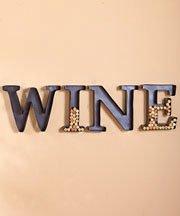 GetSet2Save 'E' Metal Monogram Wine Cork Holder, 12-Inch
