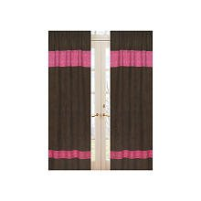 Cowgirl Panel (Sweet Jojo Designs 2-Piece Western Cowgirl Window Treatment Panels Bandana Print and Chocolate Microsuede)