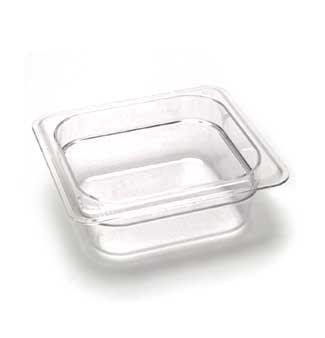 Cambro 62CW135 Camwear Food Pan plastic 1/6-size 2-1/2
