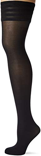 Wolford Women's Velvet De Luxe 50 Stay Up Tights, Black, Small