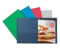 OfficeMax(R) Brand 2-Pocket Folders with Fasteners, Light Blue, Pack Of 25