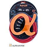 Alphasonik AAK0G Premium 0-Gauge Complete Car Amplifier Installation Kit Hyper-Flex Power, Ground, Speaker Wire RCA Cable - Exceeds AWG (American Wire Gauge) Standard Element Certified Amp Install Kit