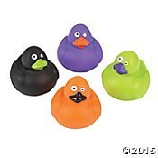 - Mini Halloween Color Rubber Ducks - 24 pcs