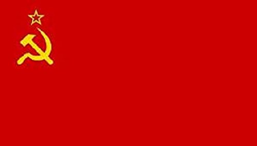 Russia Hammer Sickle Flag 8ft x 5ft Huge - 100% Polyester - Metal Eyelets - Double Stitched Sickle Flag