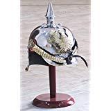 German Prussian Steel /& Brass Pickelhaube Helmet With FR Badge Military Officer Spike Helmet Tanishka Exports