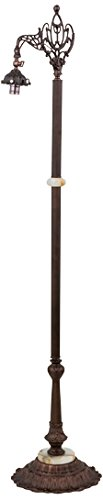 Meyda Tiffany 13349 Mahogany Bronze Bridge Arm Floor Lamp Base, 61