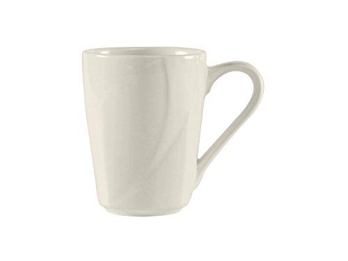 - Tuxton ASU-080 Vitrified China San Marino AlumaTux Mug, 8 oz, Pearl White (Pack of 24),