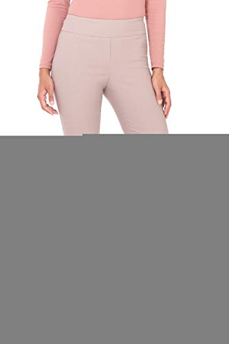 - Rekucci Women's Ease in to Comfort Straight Leg Pant with Tummy Control (6SHORT,Khaki)