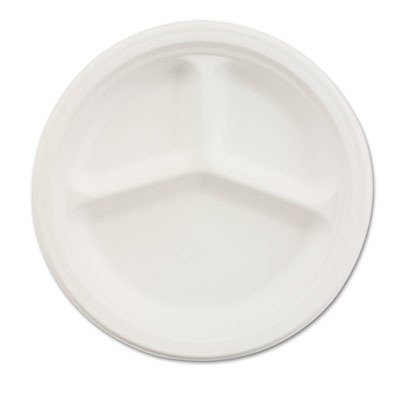 Chinet 21204CT Paper Dinnerware, 3-Comp Plate, 10 1/4