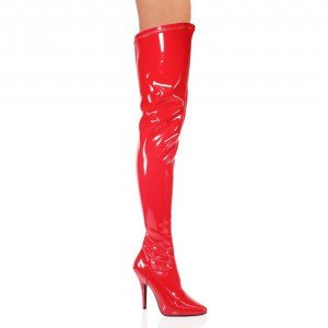 Pleaser Women's Seduce-3000,Red Patent,9 M (Patent Leather Knee Boot)