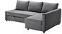 FRIHETEN Sofa bed with chaise - Skiftebo dark gray, - - IKEA