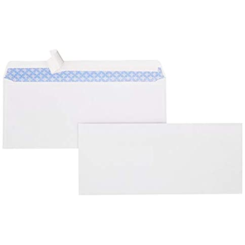 AmazonBasics #9 Envelopes with Peel & Seal, Security Tinted, 100-Pack - 21Ilr pvOfL - AmazonBasics #9 Envelopes with Peel & Seal, Security Tinted, 100-Pack
