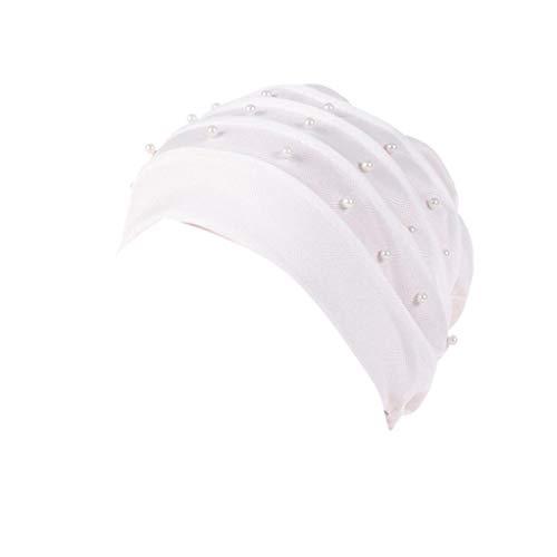 ♛Ouneed Women Beading Headwear Beanie Headscarf Cancer Chemo Hat Scarf  Turban Head Wrap Cap India Hat Muslim (Navy)  Amazon.co.uk  Clothing de7b5a42bc3a